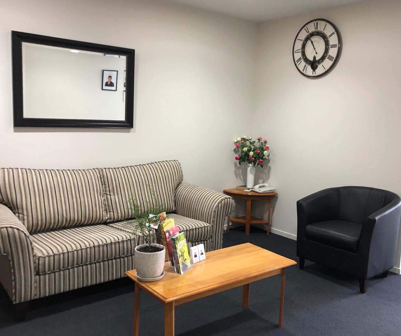 Tararua Funerals Office reception room